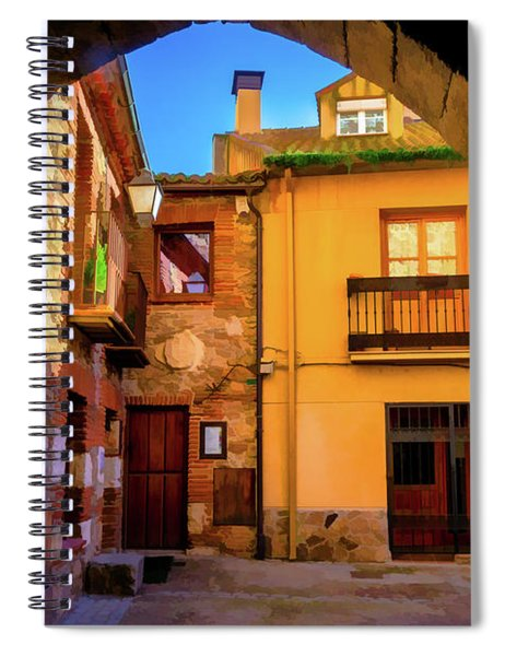 Houses Through The Arch Spiral Notebook