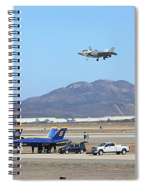 Hover Over Angels Spiral Notebook