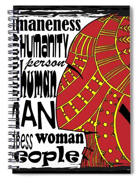 Human Being Spiral Notebook