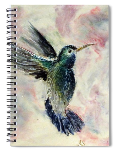 Hummingbird Flight Spiral Notebook