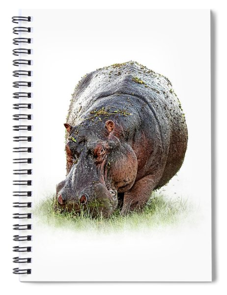 Hungry Hippo Isolated On White Spiral Notebook