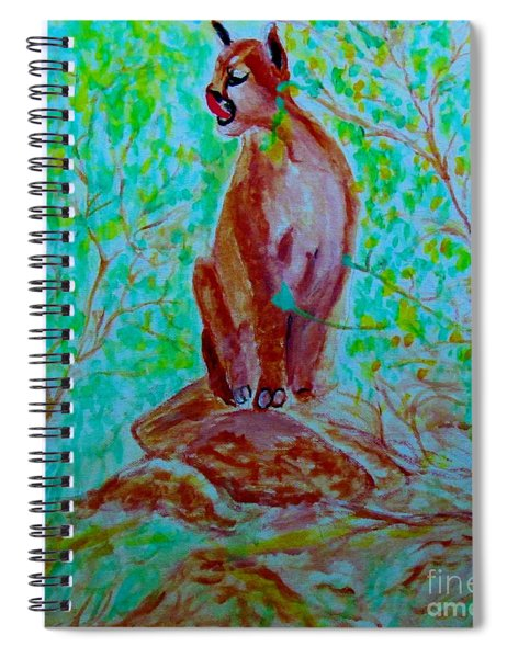 Hungry Mountain Lion Spiral Notebook