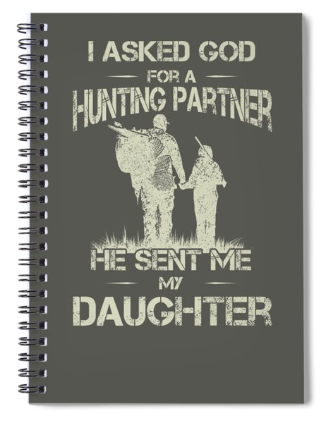 Hunter Dad And Daughter Hunting Partners Funny Father Day Premium T-shirt Spiral Notebook