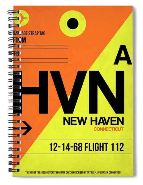 Hvn New Haven Luggage Tag I Spiral Notebook