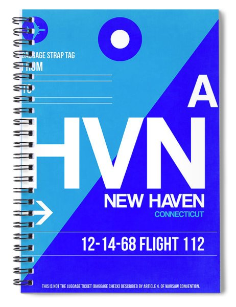 Hvn New Haven Luggage Tag II Spiral Notebook