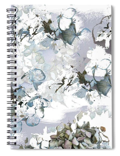 Hydrangeas In Powder Blue Spiral Notebook