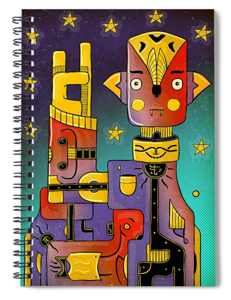 I Come In Peace - Heavy Metal Spiral Notebook by Sotuland Art
