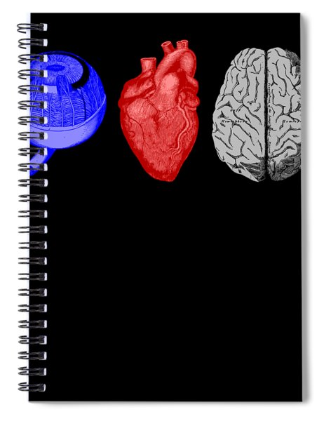 I Heart Brains Science Nerd Gift Spiral Notebook