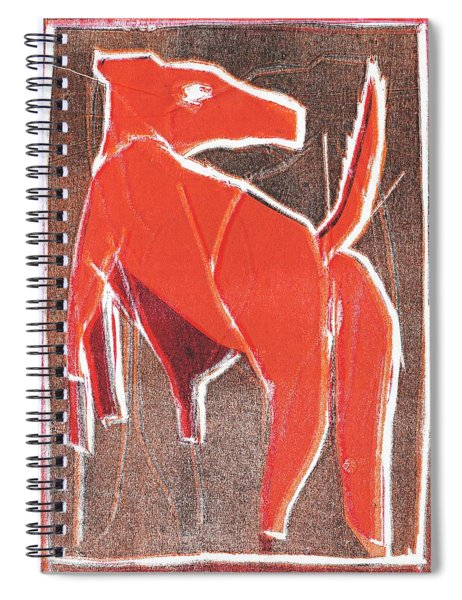 I Was Born In A Mine Dog 29 Spiral Notebook