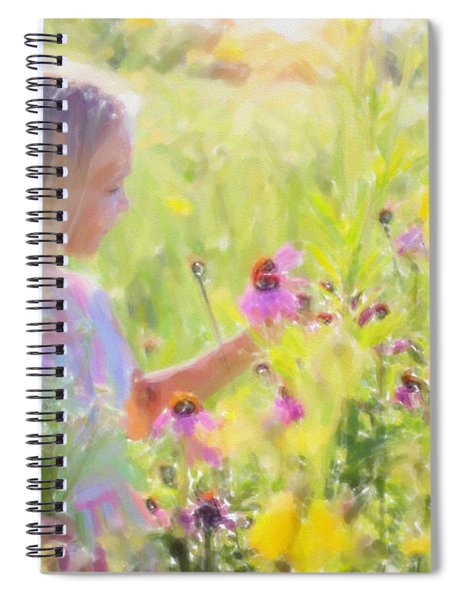 I Would Pick More Daisies ... Spiral Notebook
