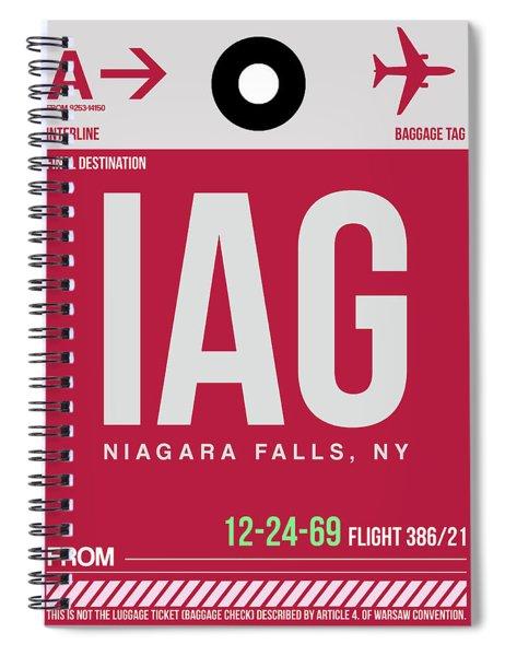 Iag Niagara Falls Luggage Tag I Spiral Notebook