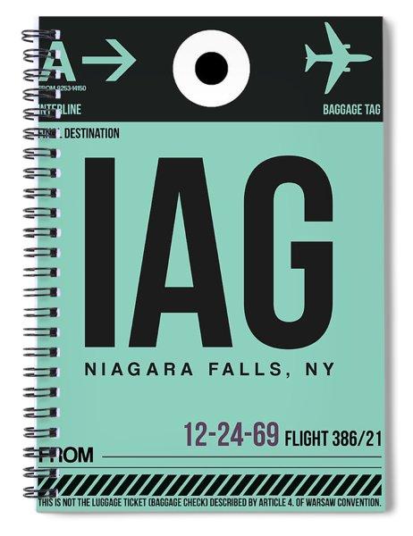 Iag Niagara Falls Luggage Tag II Spiral Notebook