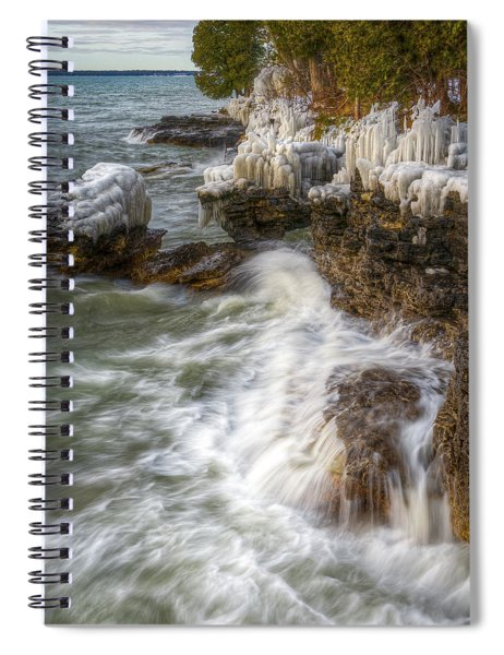 Ice And Waves Spiral Notebook