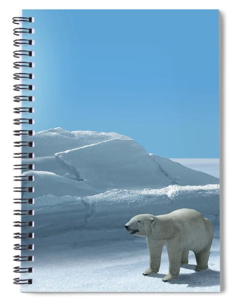 Ice Bear Hunting Polar Arctic Region Spiral Notebook