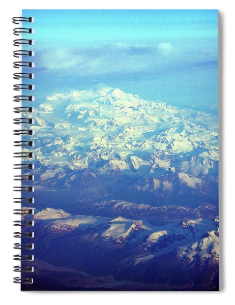 Ice Covered Mountain Top Spiral Notebook