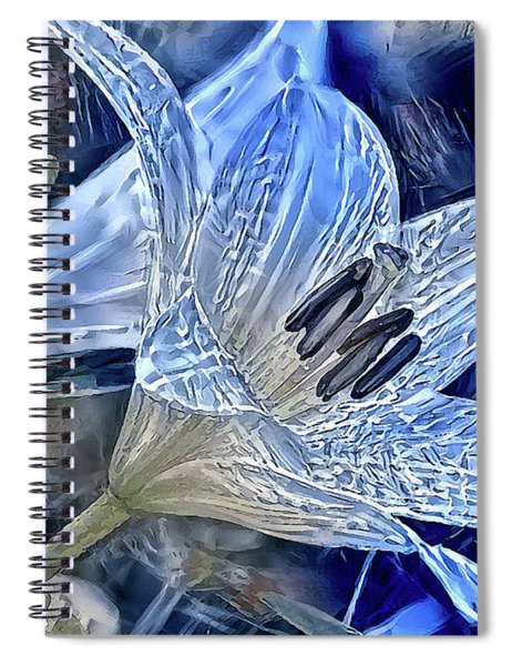 Ice Lily Spiral Notebook