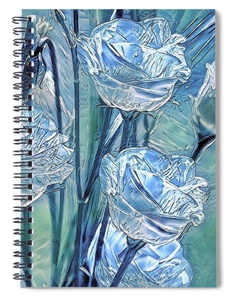 Ice Lisianthus Spiral Notebook