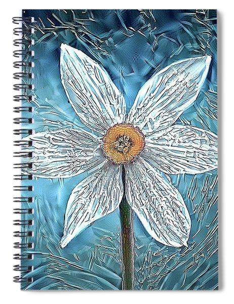 Ice Ornithogalum Spiral Notebook