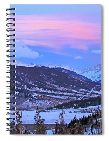 Ice Pink Clouds  Spiral Notebook
