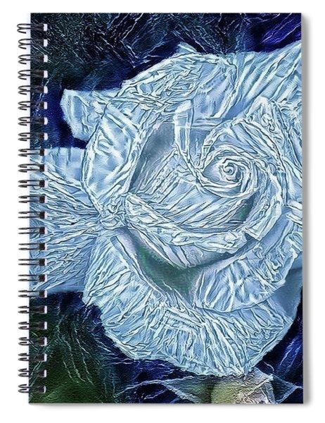 Ice Rose Spiral Notebook