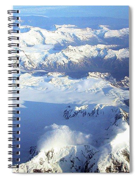 Icebound Mountains Spiral Notebook