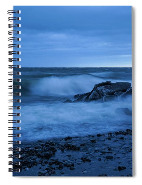 Iced Blues Spiral Notebook