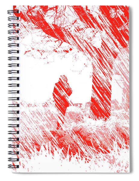 Icy Shards Fall On Setttled Snow Spiral Notebook