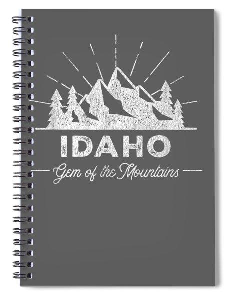 Idaho T Shirt Vintage Hiking Retro Tee Design Spiral Notebook