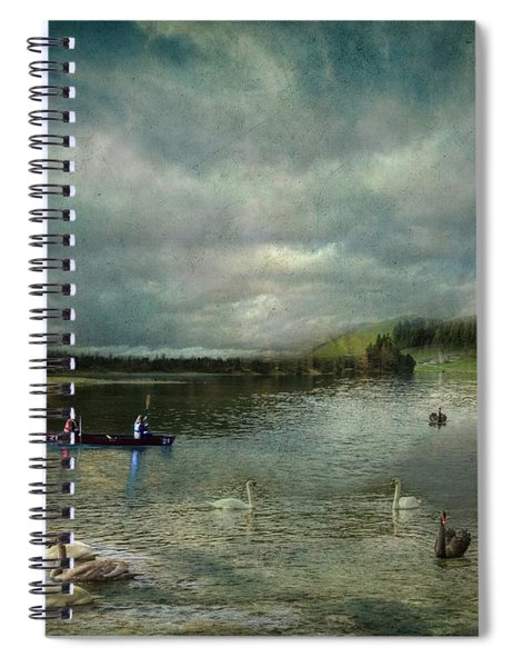 Idyllic Swans Lake Spiral Notebook