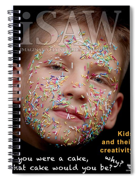 Spiral Notebook featuring the digital art If You Were A Cake by ISAW Company