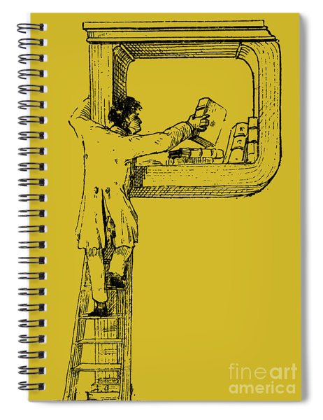 Illuminated Letter P Spiral Notebook