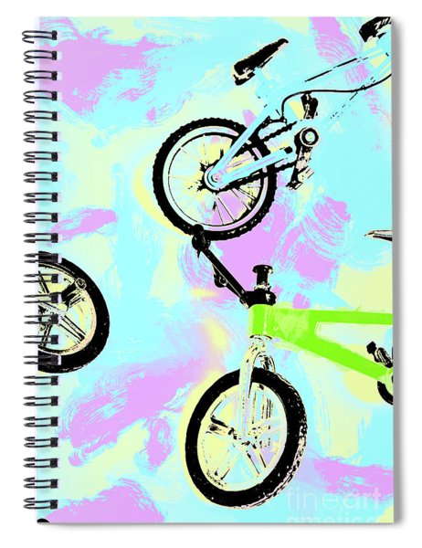Illustrative Bike Pastel Spiral Notebook