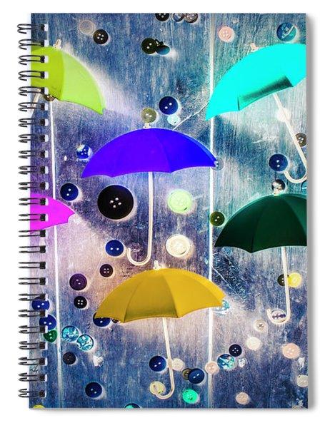 Imagination Raining Wild Spiral Notebook