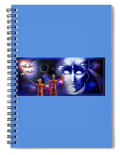 Imagine - What Is Out  There Spiral Notebook
