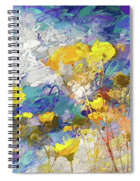 Impressions Of Desert Sunflowers Spiral Notebook