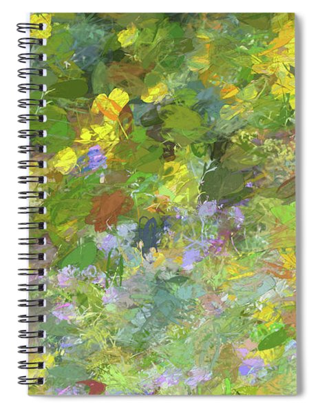 Impressions Of Golden Poppies Spiral Notebook