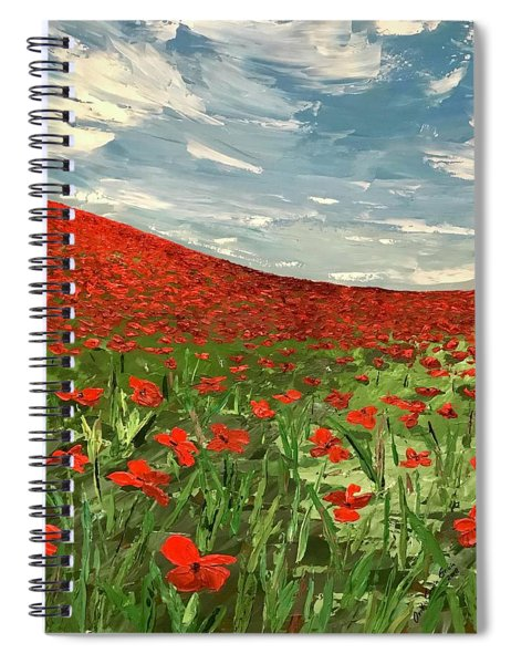 In Flanders Fields The Poppies Blow  Spiral Notebook