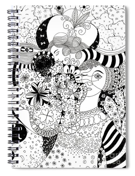 In Light And Dark Spiral Notebook