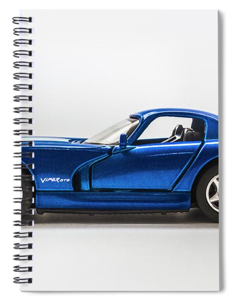 In Race Blue Spiral Notebook