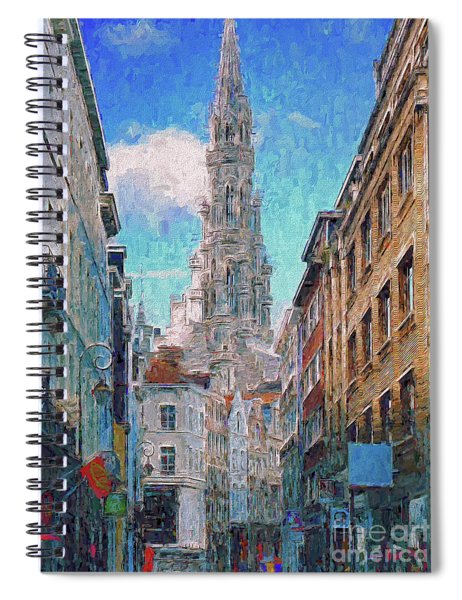 In-spired  Street Scene Brussels Spiral Notebook