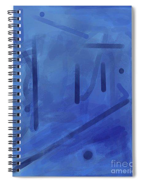 In The Blue Mist Spiral Notebook