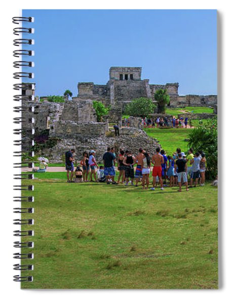 In The Footsteps Of The Maya Spiral Notebook