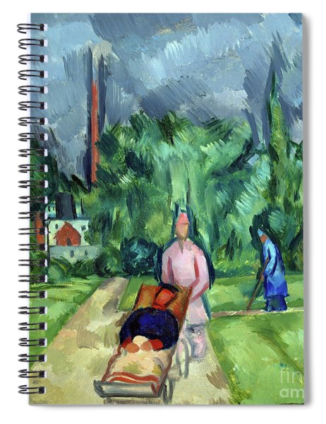 In The Gardens Of The Military Hospital IIi, 1915 Spiral Notebook