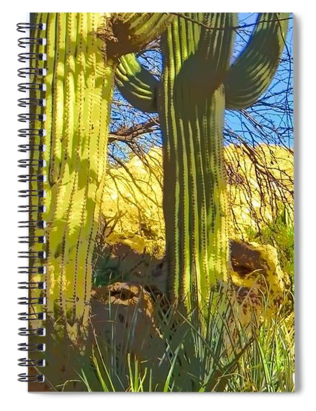 In The Shadow Of Saguaros Spiral Notebook