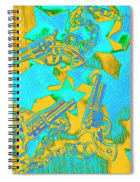 In Wild West Patterns Spiral Notebook