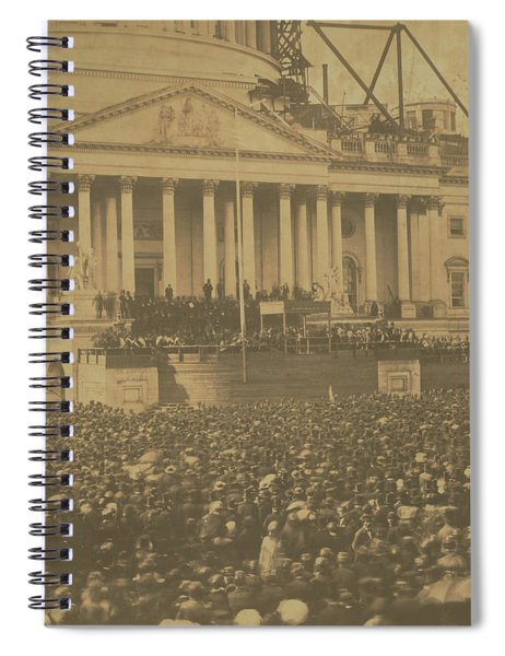 Inauguration Of Abraham Lincoln, March 4, 1861 Spiral Notebook