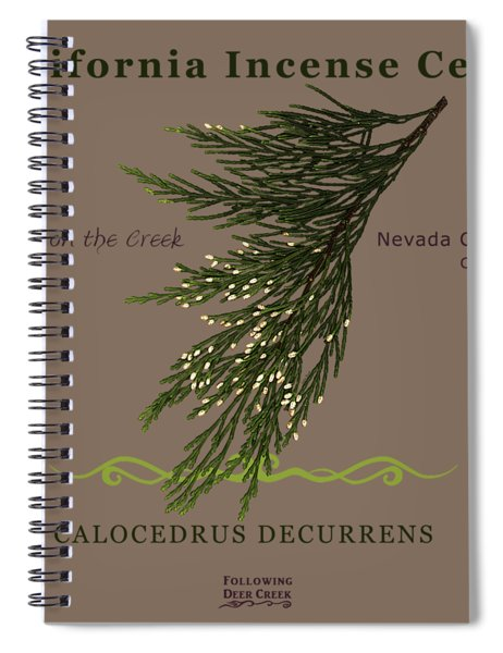 Incense Cedar - Brpwn Text Spiral Notebook
