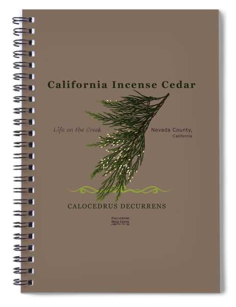 Incense Cedar - Brpwn Text Spiral Notebook