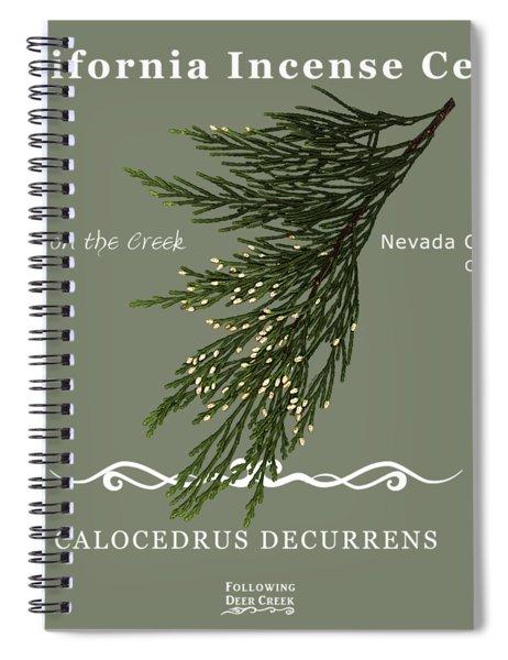 Incense Cedar - White Text Spiral Notebook