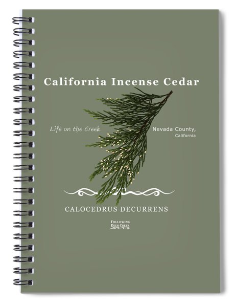 Incense Cedar - White Text Spiral Notebook